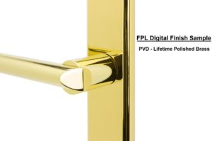 FPL Digital Finish Sample - PVD Lifetime Polished Brass