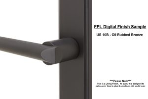 FPL Digital Finish Sample - US 10B Oil Rubbed Bronze