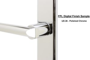 FPL Digital Finish Sample - US 26 Polished Chrome