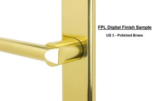 FPL Digital Finish Sample - US 3 Polished Brass