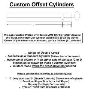 Custom Cylinder Options