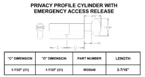 Size Chart - Privacy Cylinders