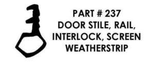 #237 Weatherstrip Profile