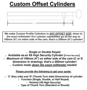 Custom X8 Cylinder Options