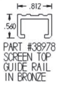 Lift & Slide Top Guide Rail (U Channel) Dimensions