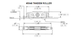 #3946 Roller Dimensions