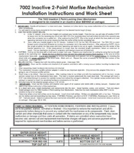 #7002 Installation Instructions