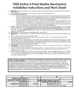 #7003 Installation Instructions