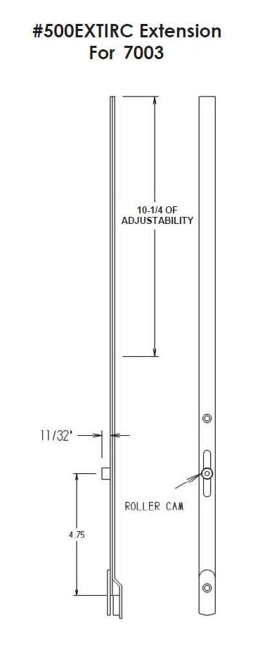 7003 3 Point Entrance Mortise Mechanism Fpl Door Locks