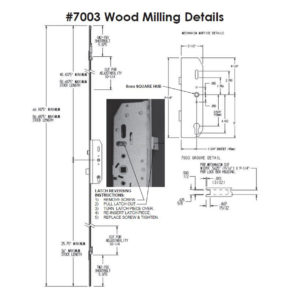 #7003 Wood Milling Specifications