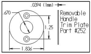 Removable Handle Trim Plate - Dimensions