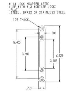 #14 Lock Adapter Dimensions