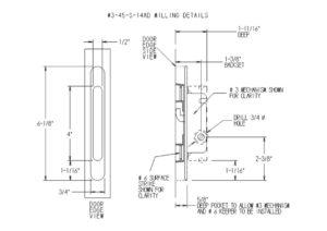 #3 Mortise Mechanism Milling Detail Dimensions