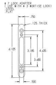 #7 Lock Adapter Dimensions