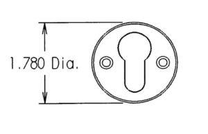 Cylinder Escutcheon #3BY Dimensions