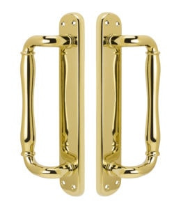 Malibu Dummy Handle Set - PVD Lifetime Polished Brass