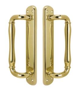 Malibu Dummy Handle Set - US 3 Polished Brass