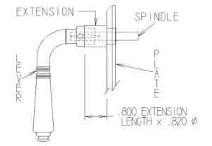 Lever Extension Drawing