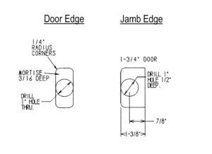 """Tubular Latch Milling Details (1-3/4"""" Door)"""