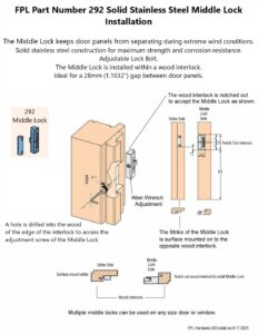#292 Middle Lock Installation
