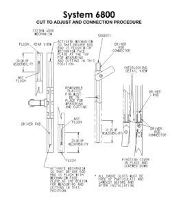 #6800 Casement Window Multipoint Cut to Adjust & Connection Procedure