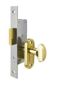 #9232 Sidelight Mortise Mechanism (Engaged) - US 3 Polished Brass