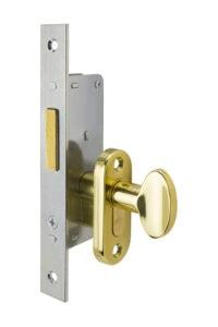#9232 Sidelight Mortise Mechanism - US 3 Polished Brass