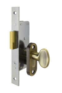 #9232 Sidelight Mortise Mechanism (Engaged) - US 5 Antique Brass