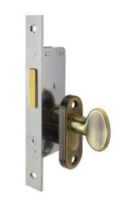 #9232 Sidelight Mortise Mechanism - US 5 Antique Brass