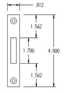 9232 Sidelight Mortise Mechanism Strike Dimensions