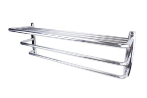 Hotel Towel Rack (Angle View 2) - Polished Stainless