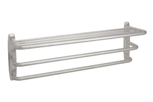 Hotel Towel Rack (Angle View) - Brushed Stainless