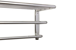Hotel Towel Rack (Close Up) - Polished Stainless