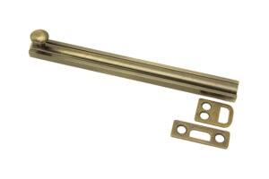 """6"""" Surface Bolt - US 5 Antique Brass"""