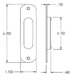 #520 Flush Pull Dimensions
