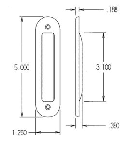 #745 Flush Pull Dimensions